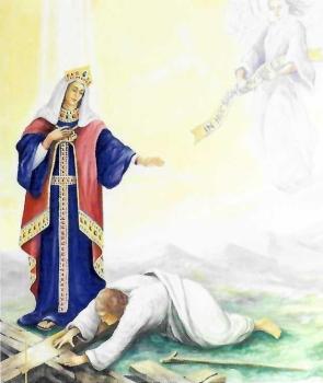 oltarska freska sv. Jelene u župnoj crkvi u Šenkovcu